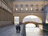 Hermitage Bridge in Saint Petersburg  Russia
