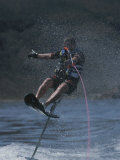 Riding High on an Air Chair While Water-Skiing