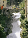 Footbridge over a Waterfall in Badgastein