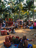 Women Selling Handcrafts at Market  Mapusa  India