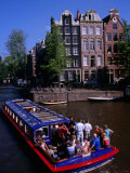 Canal Sightseeing Boat  Amsterdam  Netherlands