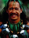 Portrait of Traditonal Dancer  Cook Islands
