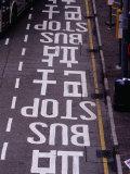 Bus Stop Markings at Wanchai  Hong Kong  China