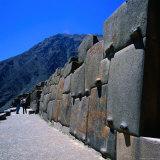 Part of the Temple at Ollantaytambo  Cuzco  Peru