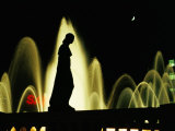 Montjuic Fountain by Night  Barcelona  Catalonia  Spain