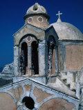 The Crumbling Chapel Overlooking the Aegean Sea  Santorini Island  Greece