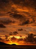 Sun Setting Over Patong Beach  Phuket  Thailand