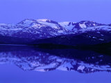 Mountains Reflected in Upper Sjodal Lake  Jotunheimen  Norway