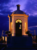 Harbourside Shrine at Puerto Banus Illuminated Against the Evening Sky  Marbella  Andalucia  Spain
