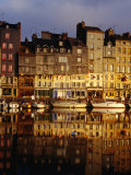 Morning Reflections of the Vieux Bassin  Honfleur  Basse-Normandy  France