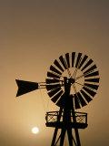 Windmill at Sunset  Isla De Lanzarote  Canary Islands  Spain