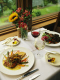 An Attractively Prepared Meal is Served at the Emerald Lake Lodge