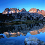 Sierra Nevada Mountains Reflected in Still Lake Waters  Ansel Adams Wilderness Area  USA