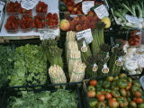 A Farmers Market Selling Vegetables in Venice  Italy