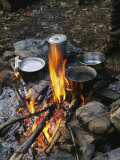 Cooking over a Campfire on the Middle Fork of the Feather River