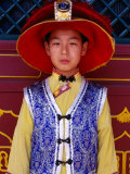 Portrait of Boy in Traditional Manchurian Costume  Chengde  China