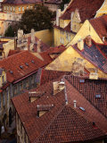 Rooftops of Houses  Prague  Czech Republic