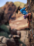 Woman Rock Climbing  CA