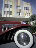 Ocean Drive with Classic Car and Majestic Hotel  South Beach  Miami  Florida  USA
