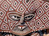 Painted Geometric Mask  Zimbabwe