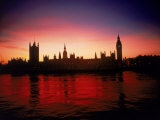 Houses of Parliament at Dusk  London  England