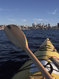 Kayaking on Lake Union  Seattle  Washington  USA