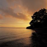 Sunset over a Sea