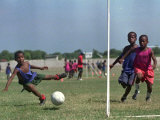 Children from Athletic of Haiti During Daily Training on the Outskirts of Cite Soleil on July 17