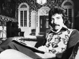 Tony Iommi Lead Singer of Pop Group Black Sabbath at Home