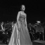 Maria Callas Singing at the Royal Festival Hall  1960
