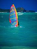 Windsurfer on the Shores of Kailua Beach  Kailua  USA