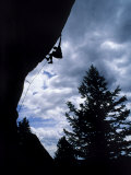 A Rock Climber Ascends a Steep Route at the Wild Iris  Wyoming