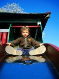 Boy on Slide  Copenhagen  Denmark