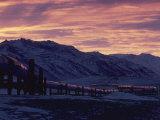 Trans-Alaska Pipeline and Brooks Range at Dawn