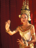 Traditional Dancer and Costumes  Khmer Arts Dance  Siem Reap  Cambodia