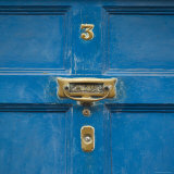 Ireland  Kinsale  Doorknocker on Blue Door