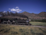 The Durango and Silverton Steam Engine Cruises Along on a Summer Day  Durango  Colorado