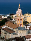 Overhead of Cartagena Cathedral Tower  Cartagena  Colombia