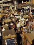 A Rickshaw Traffic Jam in Dhaka; Rickshaws are Also Called Trishaws Because They Have Three Wheels