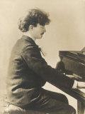 Ignacy Jan Paderewski Polish Pianist Composer and Statesman Playing a Grand Piano