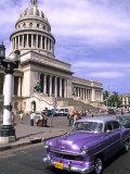 Classic 1950's Auto at Havana Capitol  Havana  Cuba