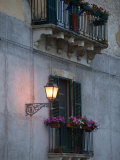 Streetlights on Via R Settimo  Ortygia Island  Syracuse  Sicily  Italy