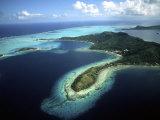 Aerial of Beautiful Bora Bora  Tahiti  French Polynesia