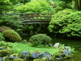 Footbridge  Japanese Garden Portland  Oregon