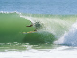 Surfer Shoots the Curl  Cape Hatteras National Seashore  North Carolina