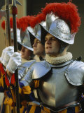 Swiss Guards Standing at Attention  Vatican City