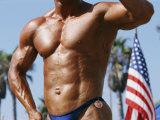 Body Builder at Muscle Beach in Venice  Ca