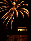 Fourth of July Fireworks from the Potomac River Overlooking the Lincoln Memorial