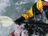 Man Kayaking a Rapid Called Iron Curtain