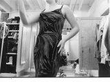 A Model Wears a Dress